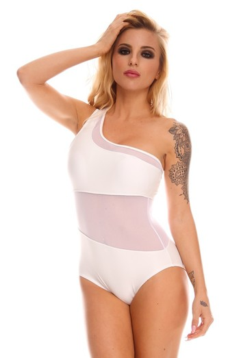 sexy white swimsuit,sexy one piece swimsuit,mesh one piece swimsuit,white monokini